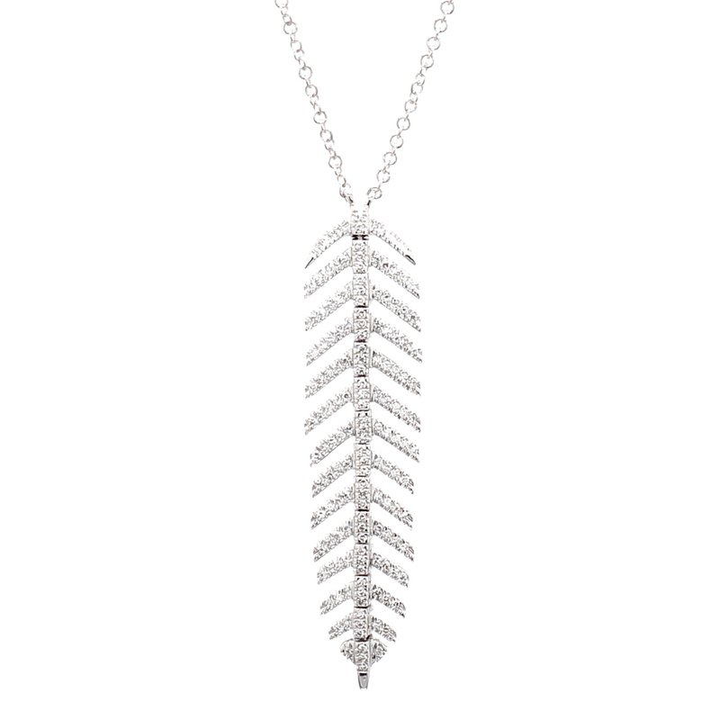 Spicer Greene Diamond Feather Pendant