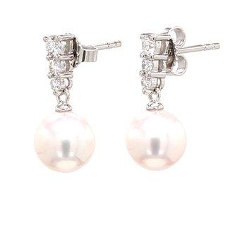 Drop Akoya Cultured Pearl Earrings
