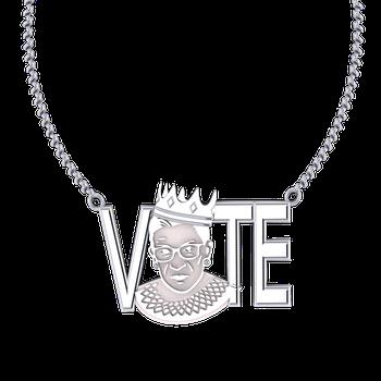 "RBG ""Vote"" Pendant (Silver)"