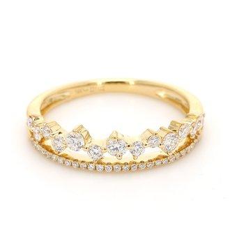 Confetti Diamond Wedding Band