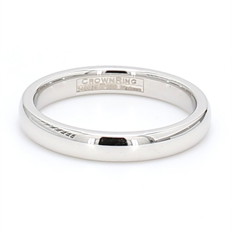 CrownRing 3mm Platinum Wedding Band