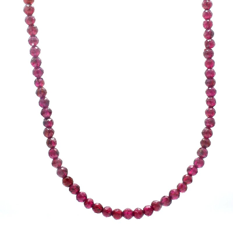 Color by Spicer Greene Garnet Beaded Strand Necklace