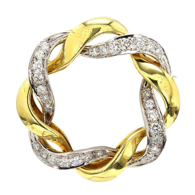 Estate Circle Diamond Pin
