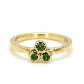 3 Stone Garnet Ring