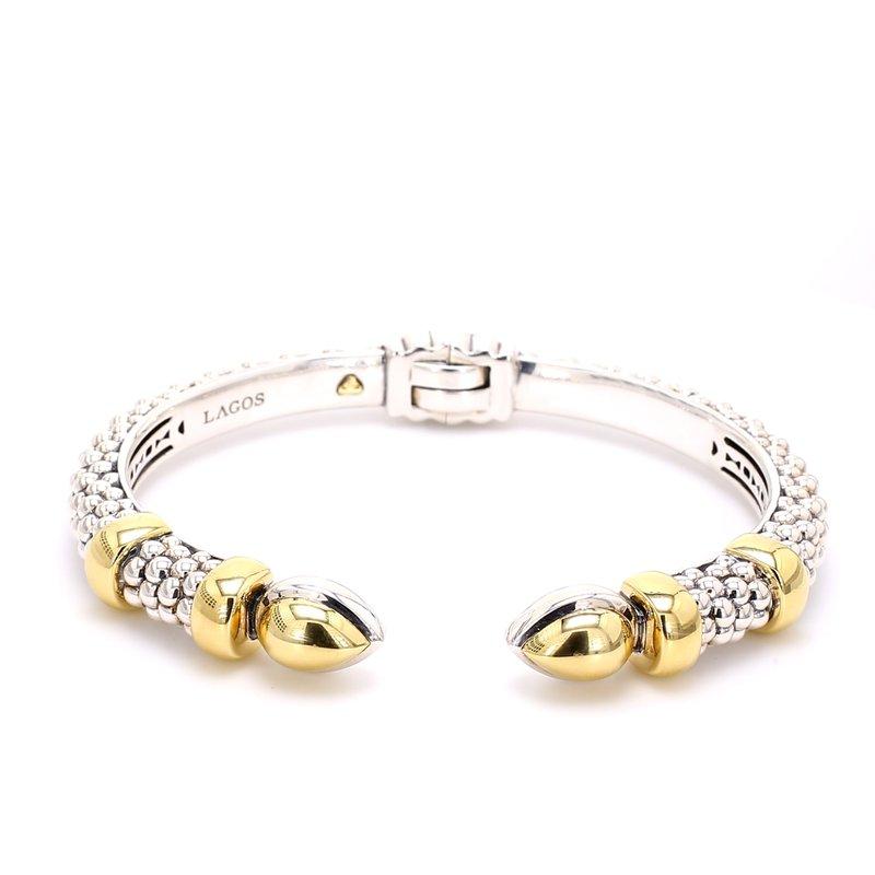 Lagos Silver & Gold Bangle Bracelet