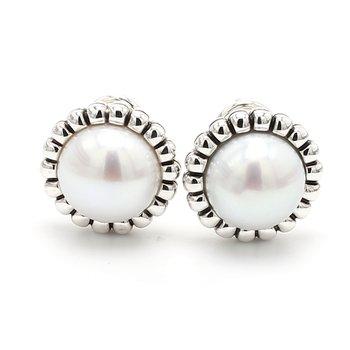 Freshwater Pearl Omega Earrings