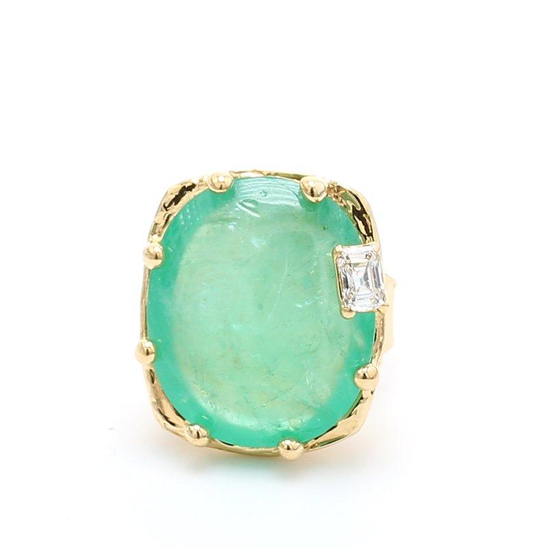 Estate Modern Emerald Ring