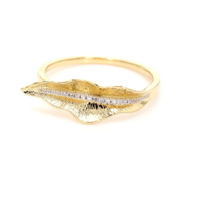 Spicer Greene Diamond Leaf Ring