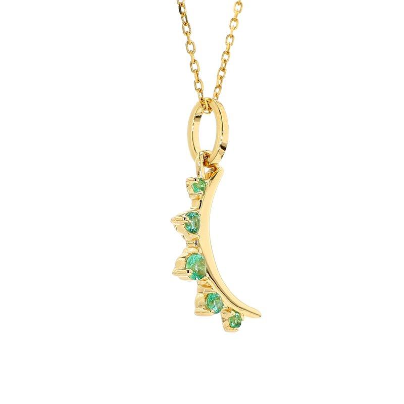 Monica Rich Kosann Emerald Moon Pendant