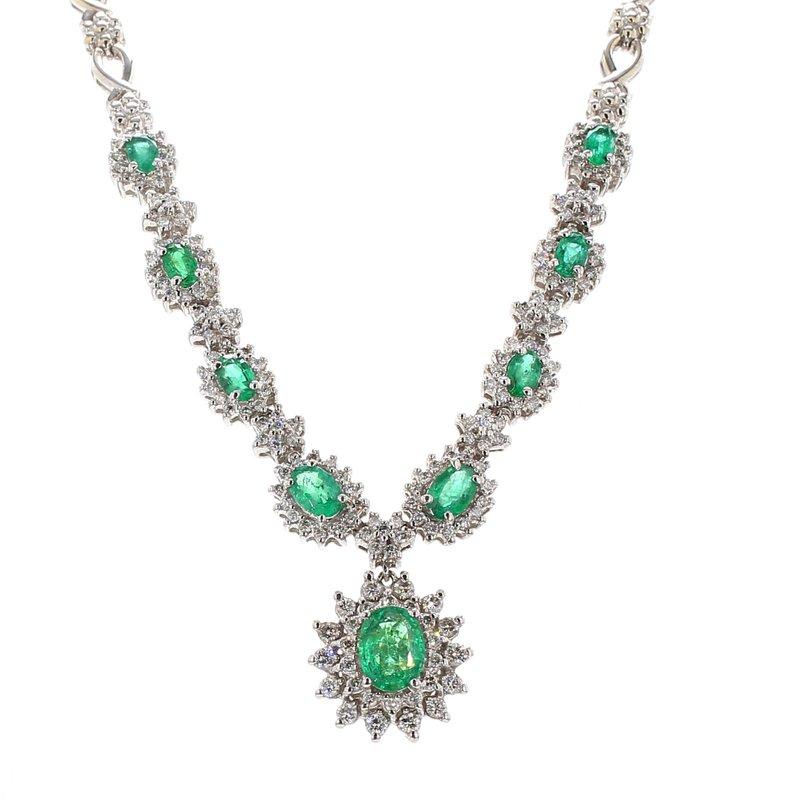 Estate Emerald Collar Necklace