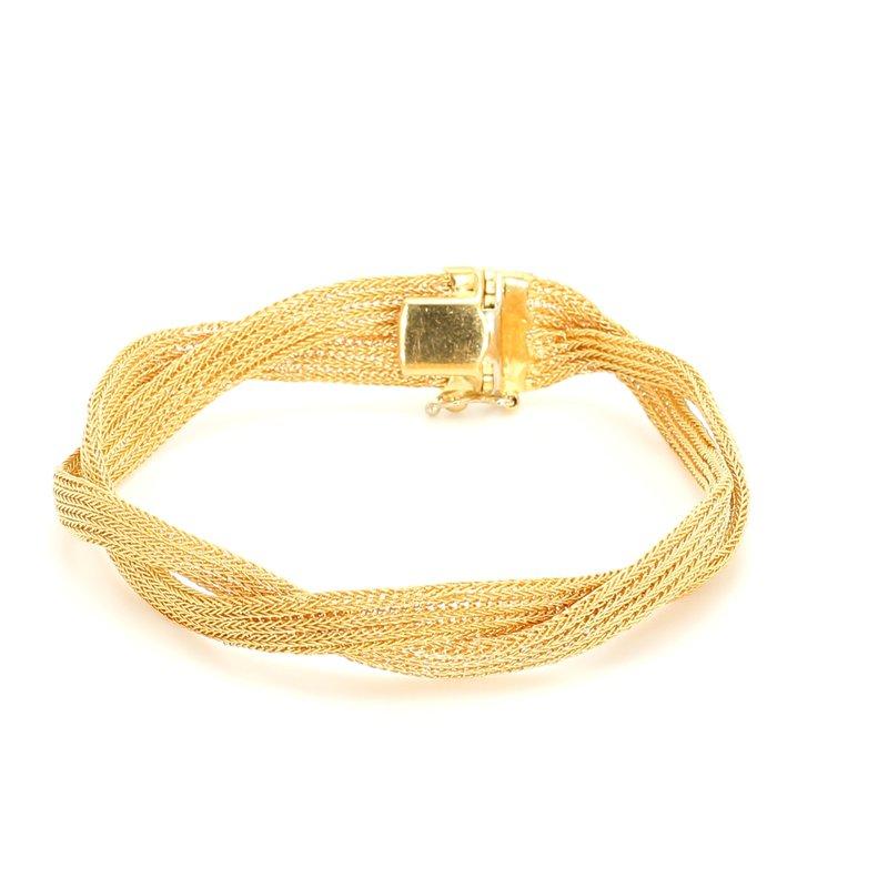 Estate Gold Mesh Bracelet