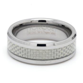 Tungsten & Carbon Fiber Wedding Band