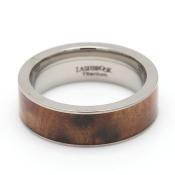 Titanium & Wood Wedding Band
