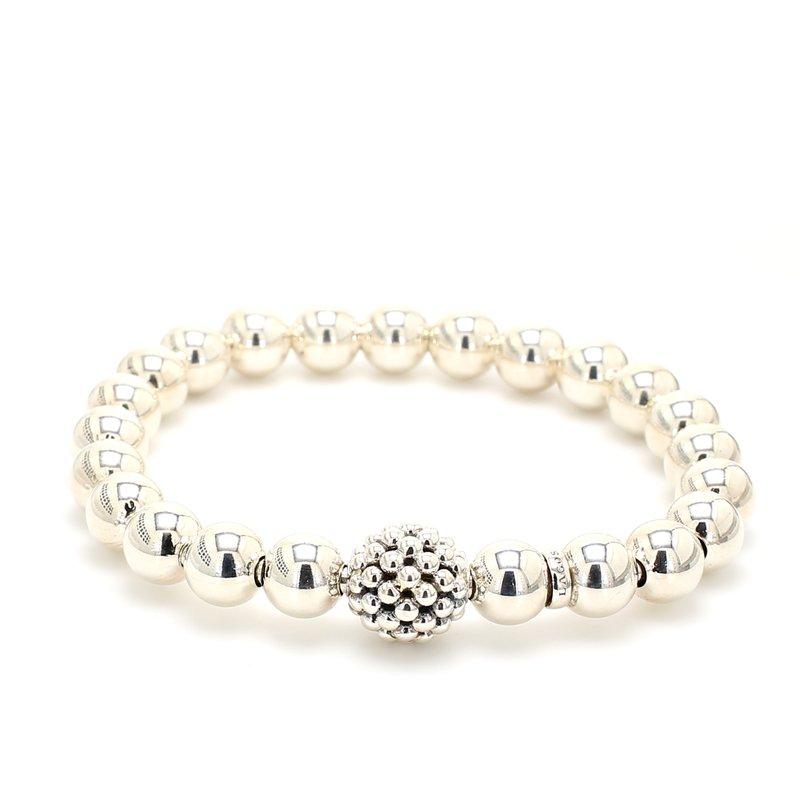 Lagos Silver Beaded Bracelet