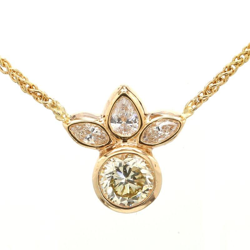 Spicer Greene Diamond Fixed Pendant Necklace