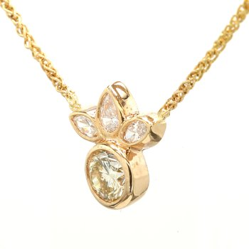 Diamond Fixed Pendant Necklace