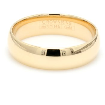 6mm 14 Karat Gold Wedding Band