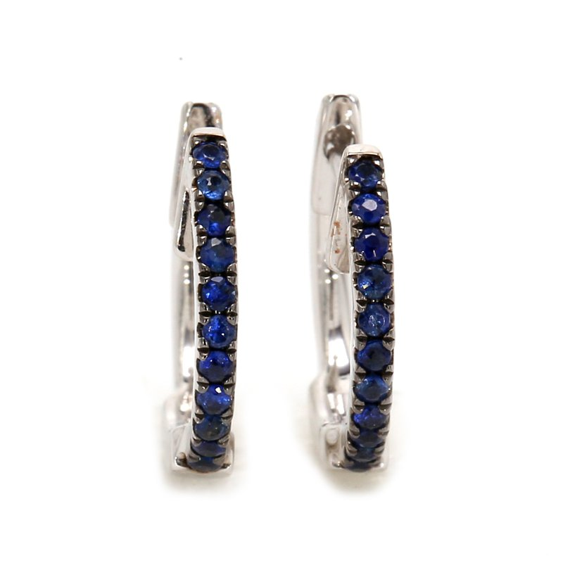 Color by Spicer Greene Sapphire Huggie Earrings