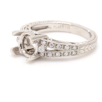 Platinum Semi Mount Engagement Ring