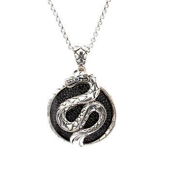 Black Spinel Snake Pendant