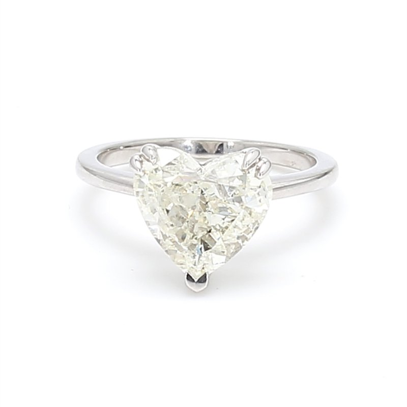 Spicer Greene Heart Shape Classic Solitaire Engagement Ring