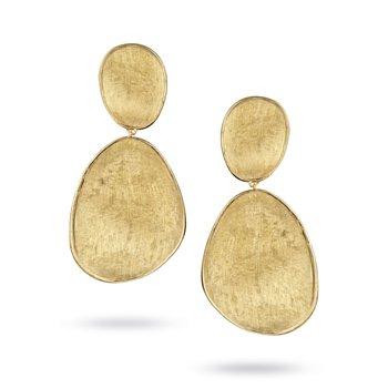 Lunaria Gold Drop Earrings