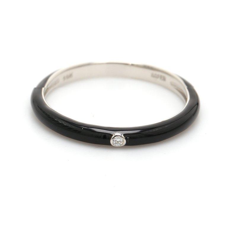 Spicer Greene Stackable Ceramic & Diamond Ring