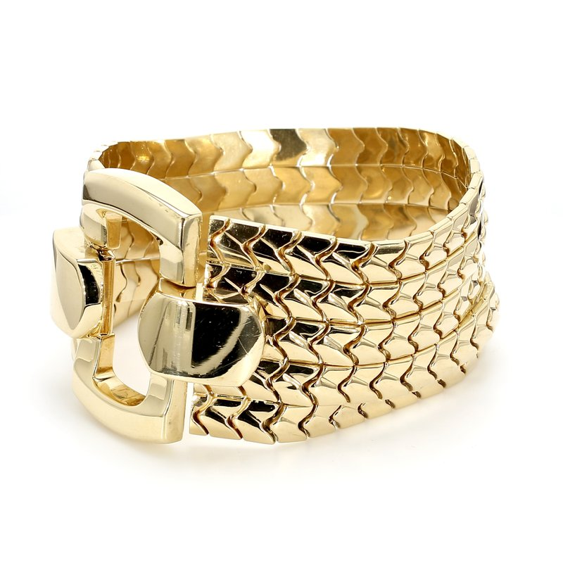 Estate Gold Buckle Bracelet
