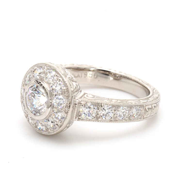 Spicer Greene Halo Engagement Ring