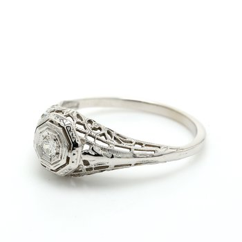 Estate Solitaire Diamond Ring