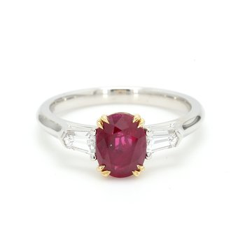 3 Stone Ruby Ring