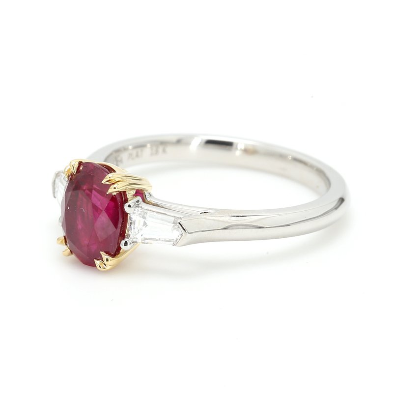 Color by Spicer Greene 3 Stone Ruby Ring
