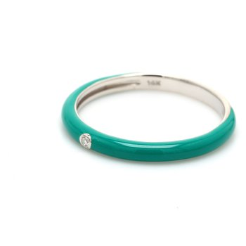Stackable Ceramic & Diamond Ring