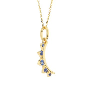 Sapphire Moon Pendant