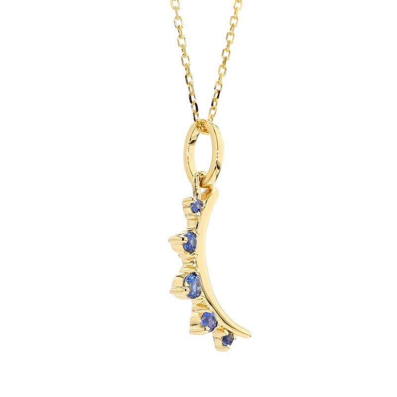 Monica Rich Kosann Sapphire Moon Pendant