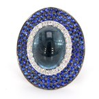 Color by Spicer Greene Tourmaline, Sapphire & Diamond Ring