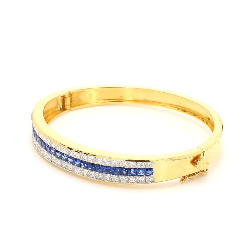 Estate Sapphire Bangle Bracelet