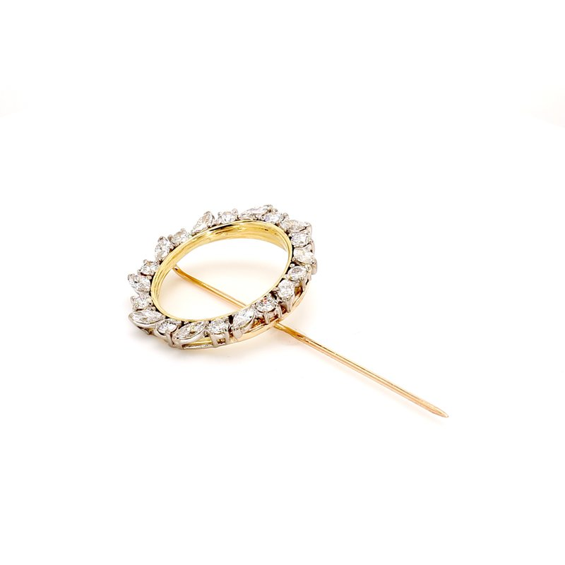 Estate Diamond Circle Pin