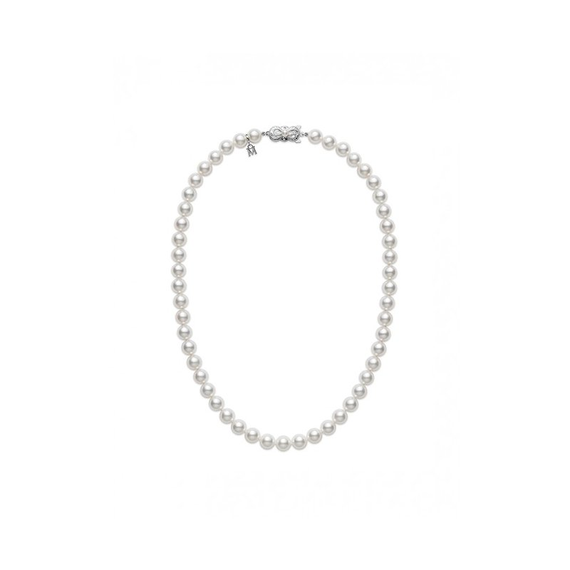 Mikimoto Akoya Cultured 18in Pearl Strand