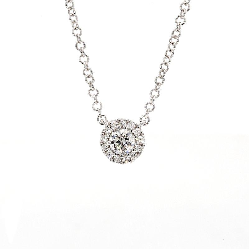 Spicer Greene Diamond Halo Necklace
