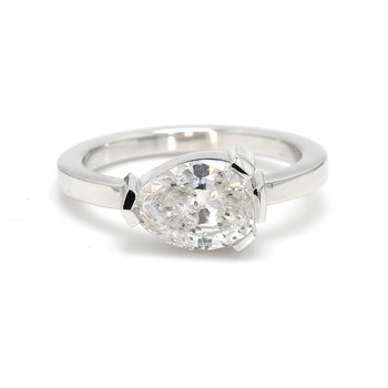 Pear Solitaire Engagement Ring
