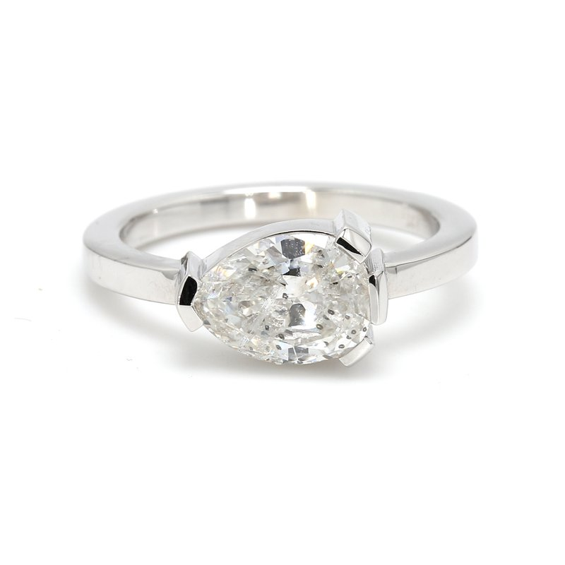 Spicer Greene Pear Solitaire Engagement Ring