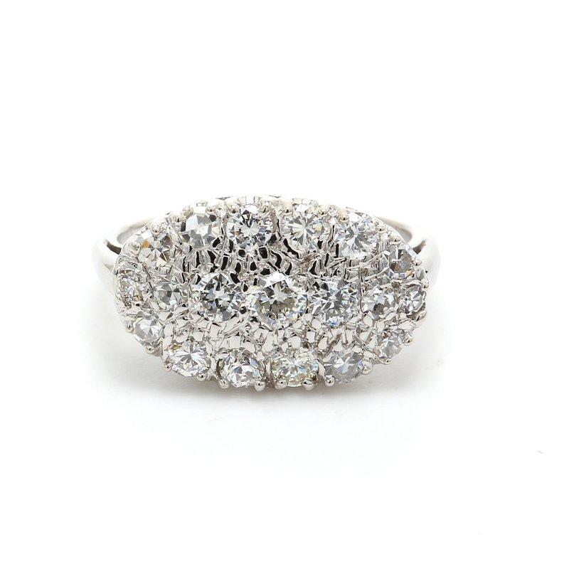 Estate Diamond Cluster Ring