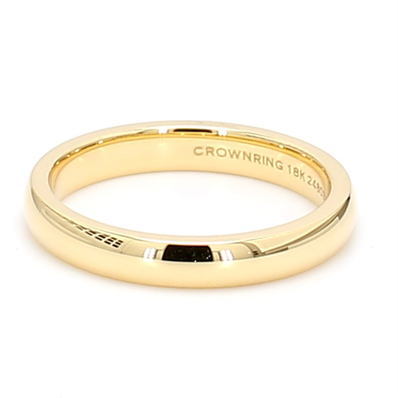 CrownRing 3mm 18 Karat Gold Wedding Band