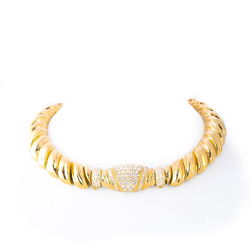 Estate Diamond Choker Necklace