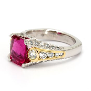 Rubellite Solitaire Ring