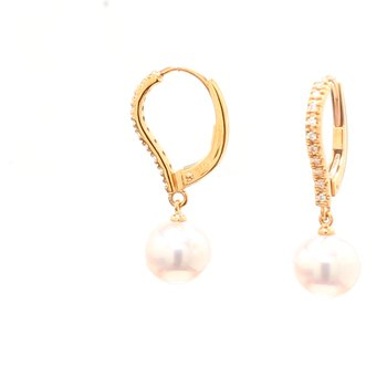 Akoya Cultured Pearl Dangle Earrings
