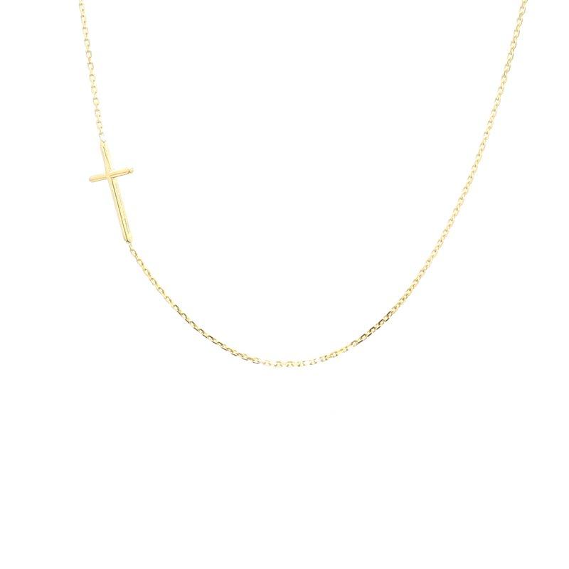 Spicer Greene Gold Cross Necklace
