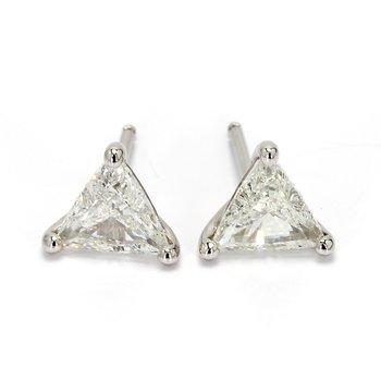 Trilliant Diamond Studs