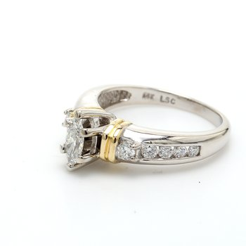 Marquise Cut Solitaire with Diamonds Engagement Ring